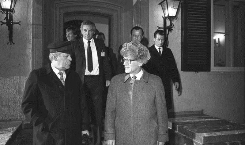 Erich Honecker and Helmut Schmidt